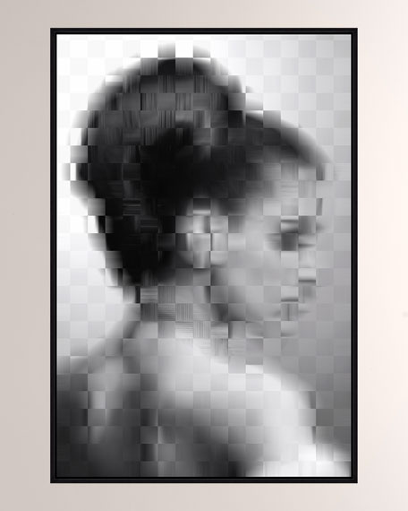 Image 1 of 2: Pixelism Portrait Giclee On Canvas Wall Art With Frame
