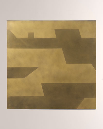 Spencer Acid Etched Brass Wall Panel Decor