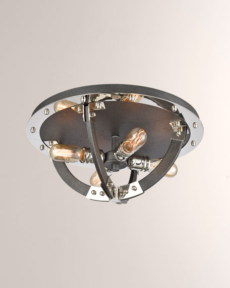 Sterling Industries Riveted Plate 4-Light Flush Mount