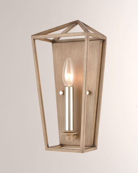 Sterling Industries Fairfax 1-Light Satin Nickel Sconce