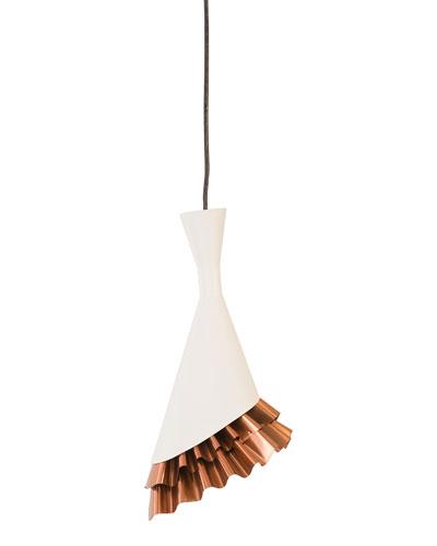 Ruffle Pendant  White/Copper