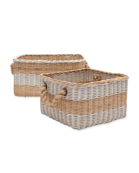 Pigeon and Poodle Nantucket Nested Storage Baskets, Set of Two