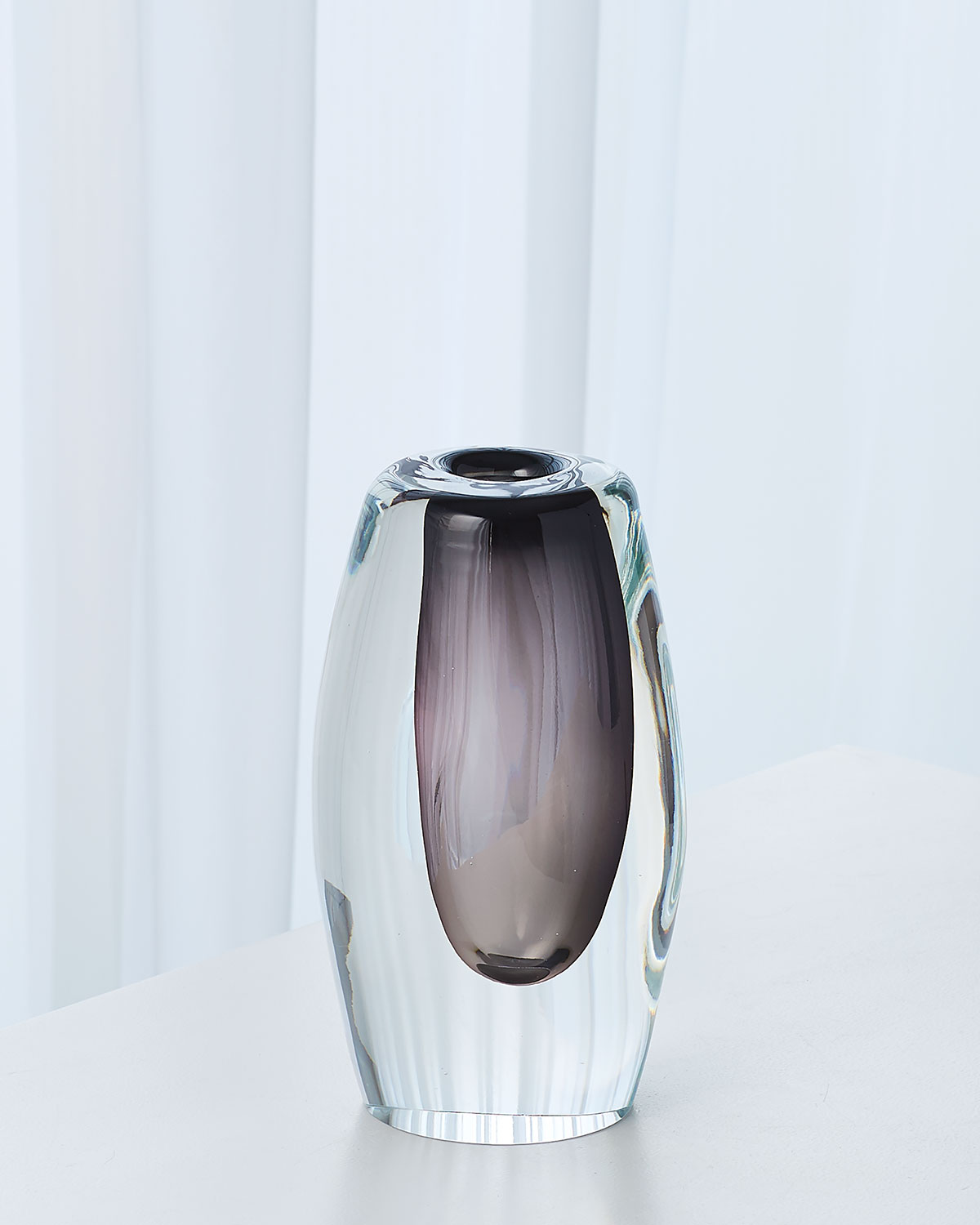 Global Views Off Set Vase - Gray - Small