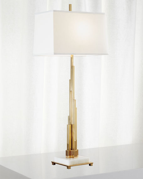 Global Views Metropolis Table Lamp - Brass