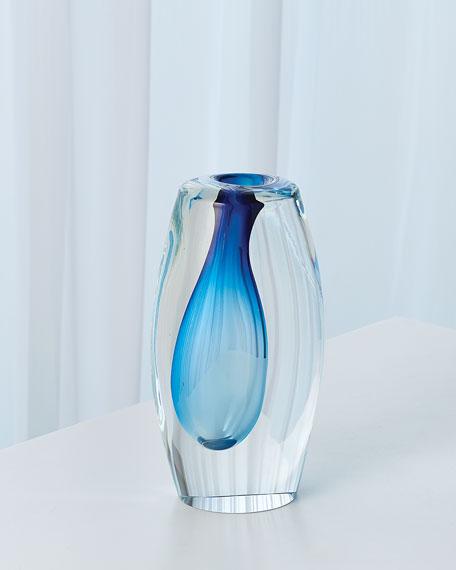 Global Views Off Set Vase - Light Blue - Small