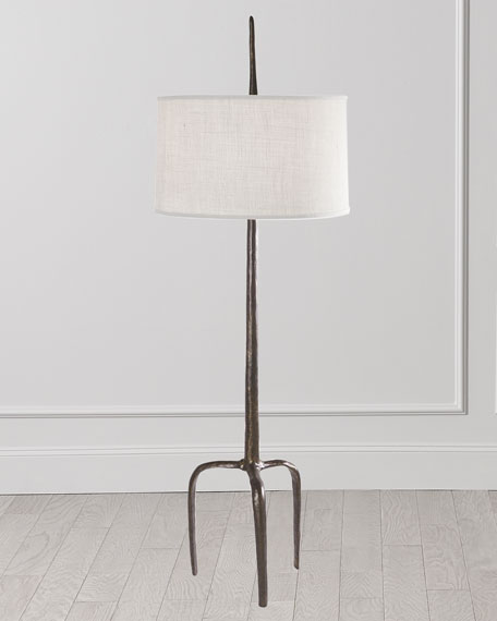 Image 2 of 2: Global Views Riley Floor Lamp - Bronze
