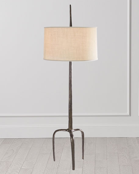 Image 1 of 2: Global Views Riley Floor Lamp - Bronze