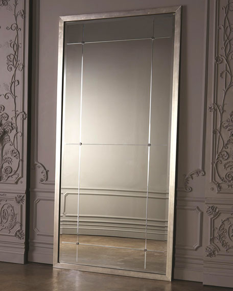 Global Views Beaumont Floor Mirror - Silver