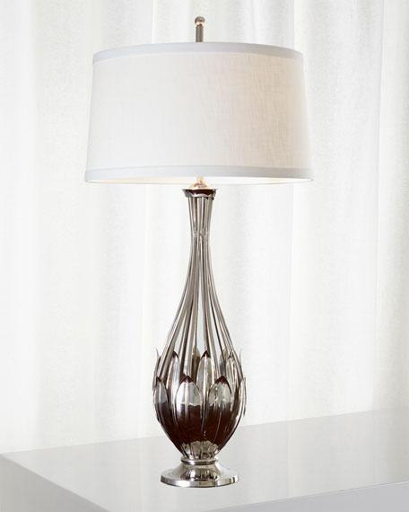 Global Views Leaf Cage Lamp - Nickel