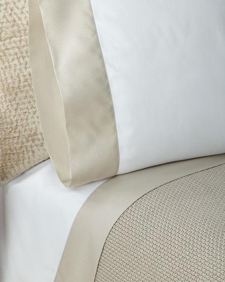 Ralph Lauren Home RLC Pique Border Satin Standard  Pillowcases, Set of Two
