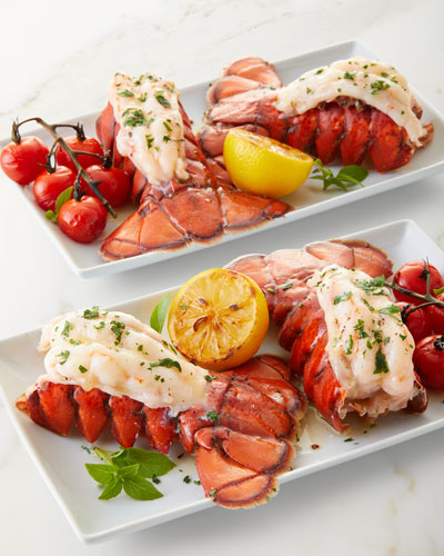 4 Maine Lobster Tails with Lemon Garlic Marinade