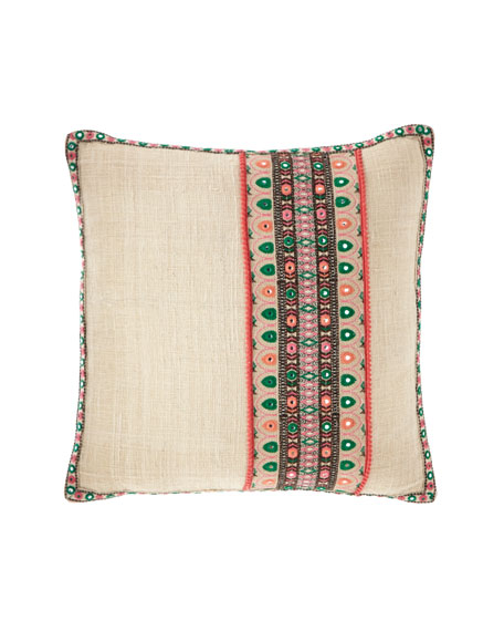"Decorative Stripe Pillow, 22""Sq."