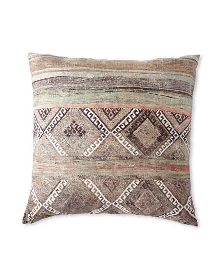 """Ethnic Cream Floor Pillow, 36""""Sq."""