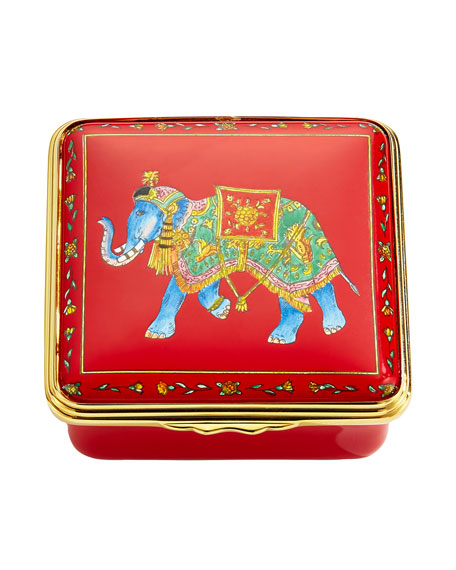 Image 1 of 2: Halcyon Days Ceremonial Indian Elephant Enamel Box
