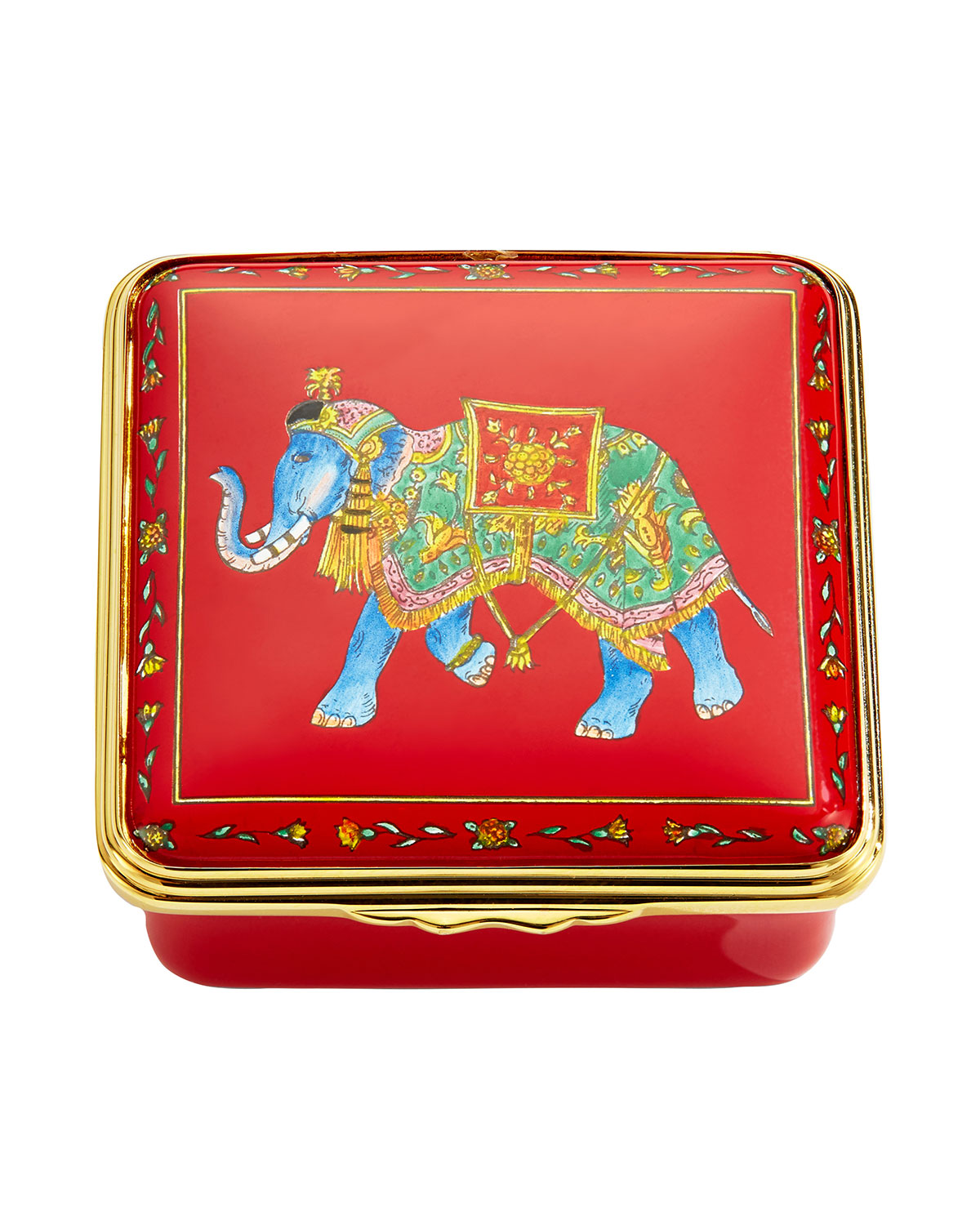 Halcyon Days Ceremonial Indian Elephant Enamel Box