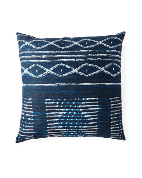 "Organic Blue Floor Pillow, 36""Sq."