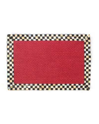 Courtly Check Red Sisal Rug  2' x 3'