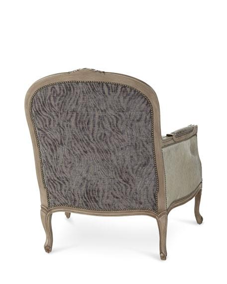 Massoud Lucas Leather Bergere Chair