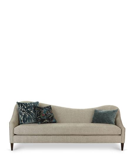 "Massoud Raquel Left Facing Curved Sofa, 92"""