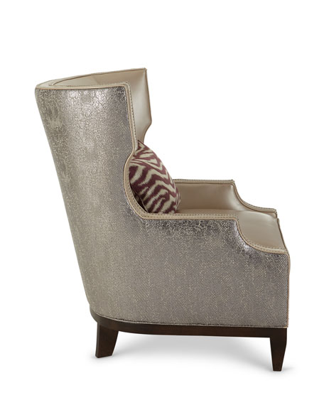 Massoud Diorio Leather Wing Chair
