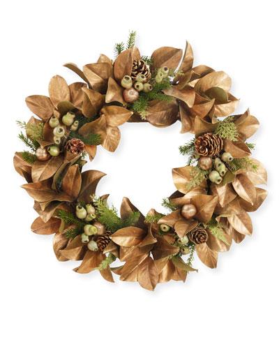 30 Magnolia Leaf Wreath