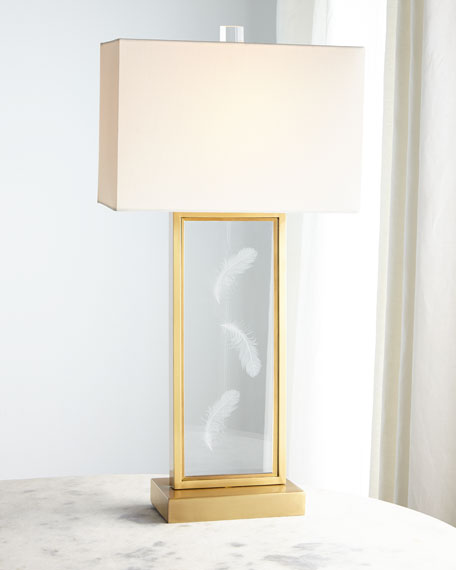 John-Richard Collection Floating Ghost Feather Table Lamp
