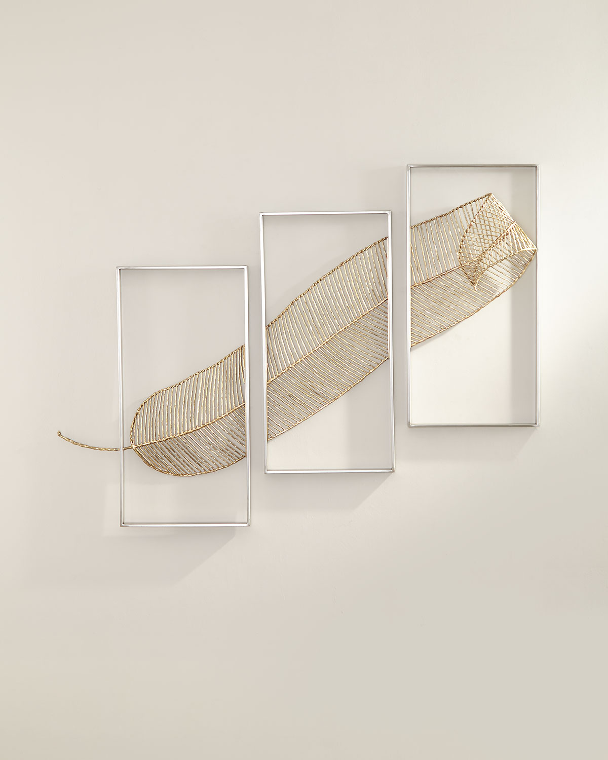 John-Richard Collection Gold Leaf Triptych Wall Sculpture