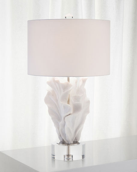 Image 1 of 1: Cast Coral Table Lamp