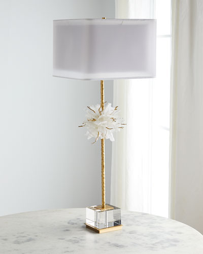 Organic Calcite Twig Ball Table Lamp