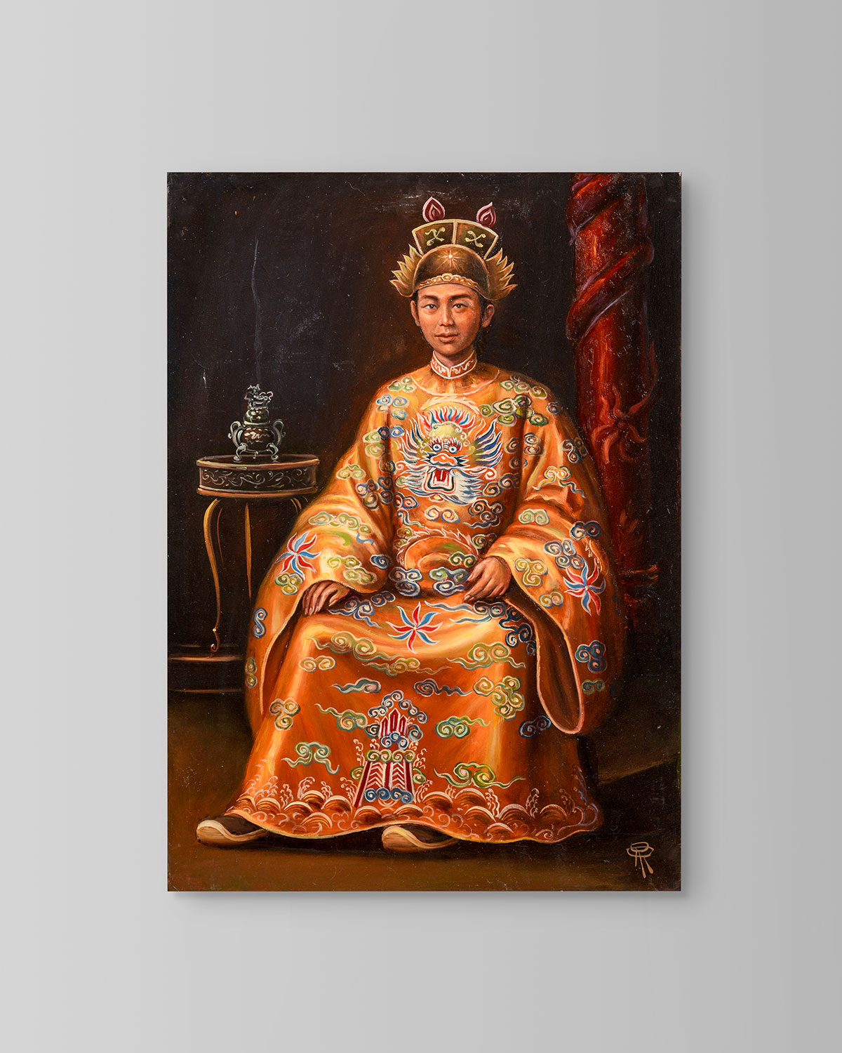 "John-Richard Collection ""Emperor Minh Mang"" Painting by Roland Renaud"