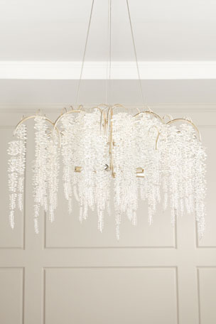 John-Richard Collection Cascading Crystal 6-Light Chandelier