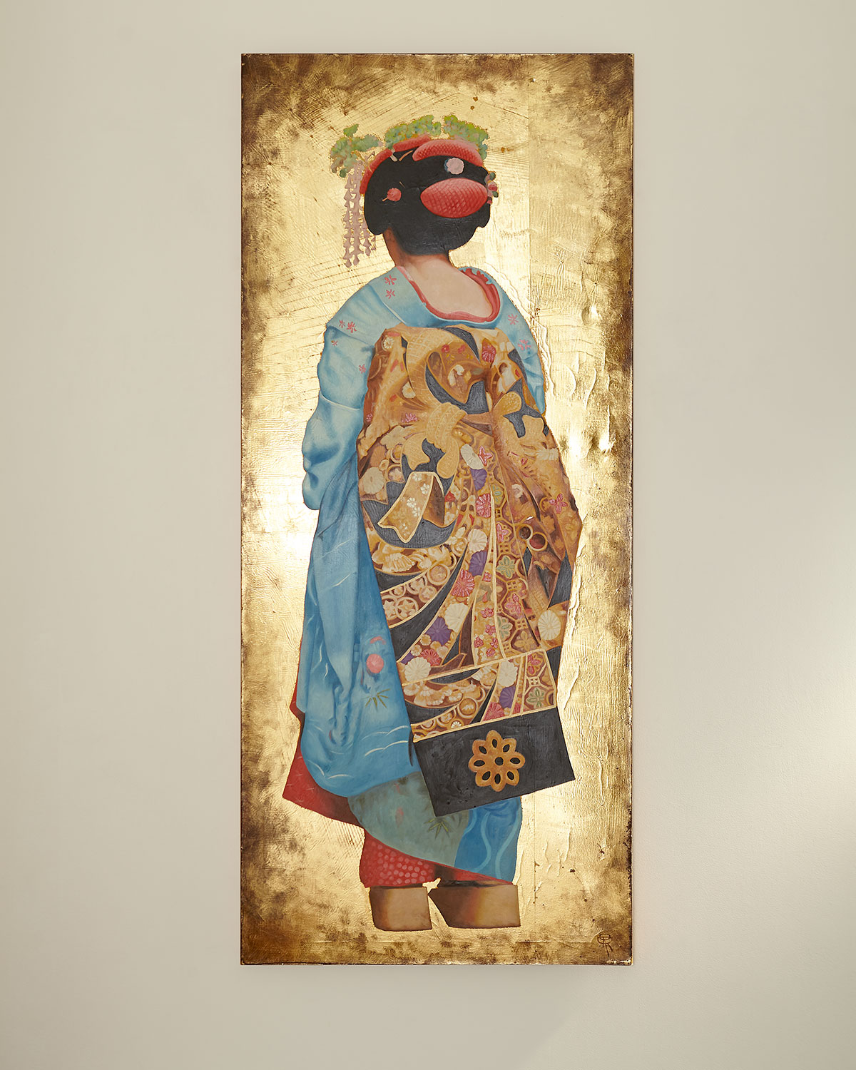 "John-Richard Collection ""Blue Geisha"" Painting by Roland Renaud"