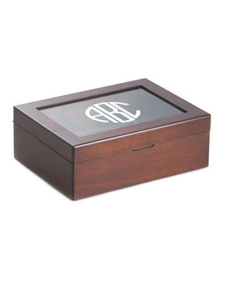 Bey-Berk Men's Personalized Wooden Tea Box