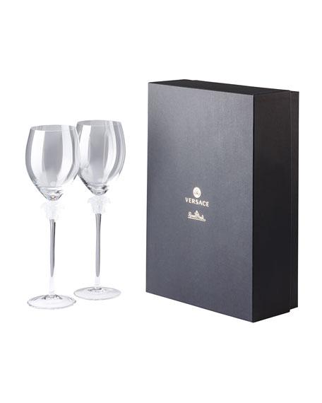 Versace Medusa Lumiere Wine Glasses, Set of 2