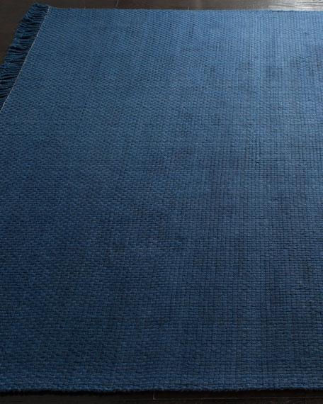 """Lauren Ralph Lauren Amalie Navy Hand-Woven Flat Weave Runner, 2'6"""" x 8'"""
