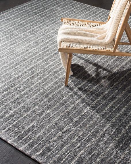 Lauren Ralph Lauren Miles Charcoal Stripe Flat Weave Rug, 8' x 10'