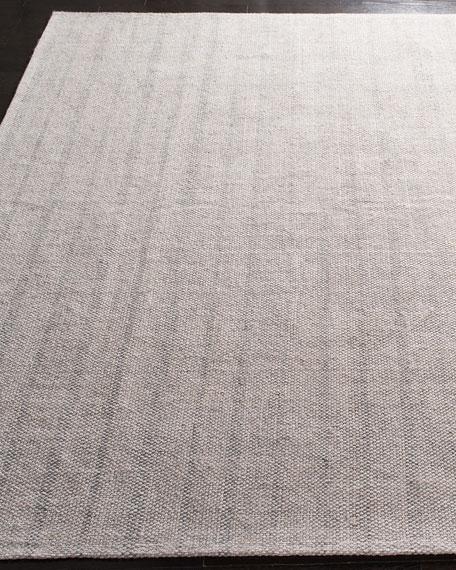 Lauren Ralph Lauren Miles Silver Stripe Flat Weave Runner, 2.6' x 8'
