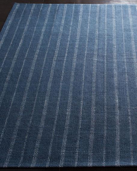 Lauren Ralph Lauren Miles Navy Stripe Flat Weave Rug, 4' x 6'