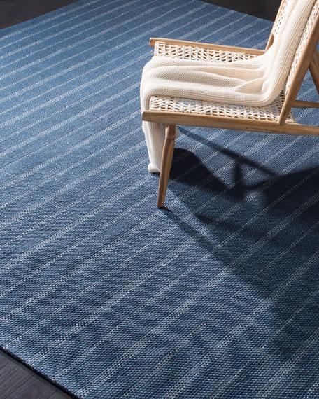Lauren Ralph Lauren Miles Navy Stripe Flat Weave Rug, 8' x 10'