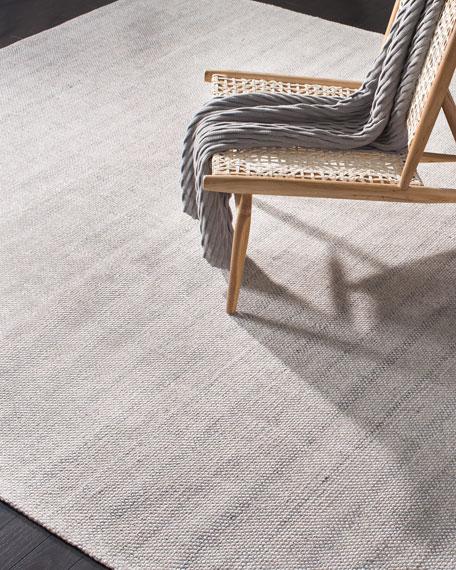 Lauren Ralph Lauren Miles Silver Stripe Flat Weave Rug, 4' x 6'