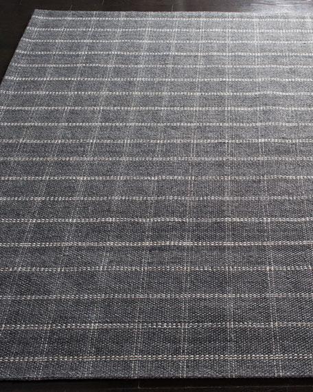 Lauren Ralph Lauren Tamworth Charcoal Check Hand-Woven Rug, 4' x 6'