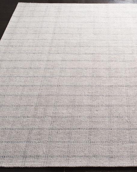 Lauren Ralph Lauren Tamworth Silver Check Hand-Woven Runner, 2.6' x 8'