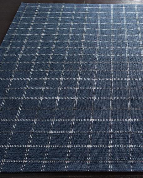 Lauren Ralph Lauren Tamworth Navy Check Hand-Woven Rug, 8' x 10'