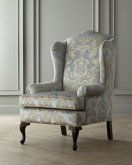 Image 2 of 6: Haute House Priscilla Wing Chair