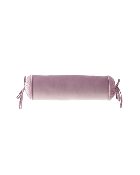 Sherry Kline Home Tatiana Velvet Neck Roll Pillow