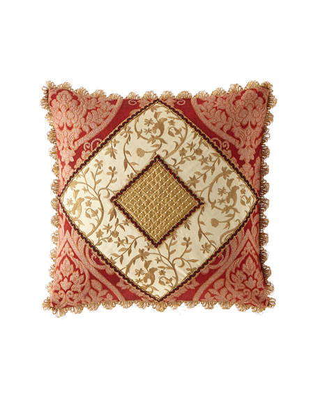Sweet Dreams Fontenay Pieced Boutique Pillow with Scallop Fringe