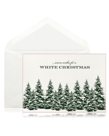 Bell'INVITO Pine Forest Christmas Stationery Set, Box of 10