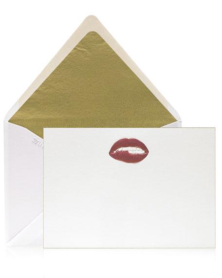 Bell'INVITO Pucker Lips Stationery Set, Box of 12