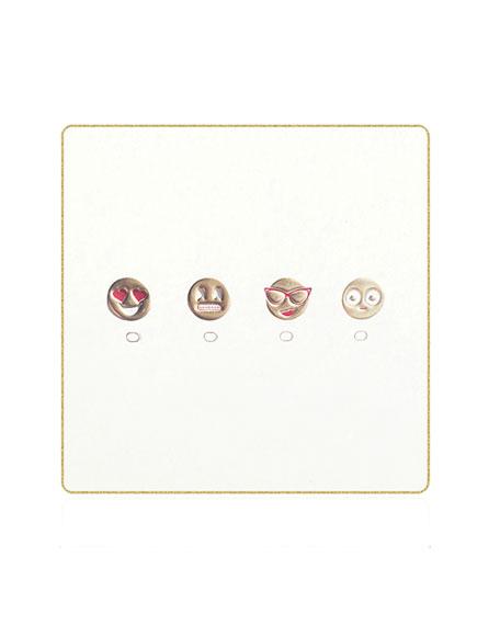 Bell'INVITO Emoji Coasters, Set of 18