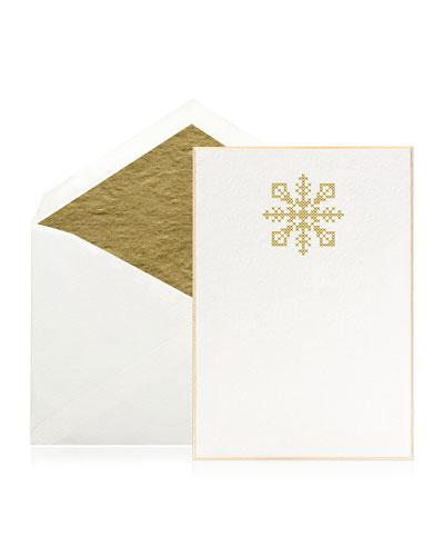 Cross Stitch Snowflake Stationery Set  Box of 10